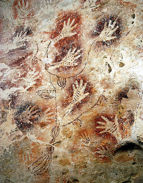 Cave art in Borneo