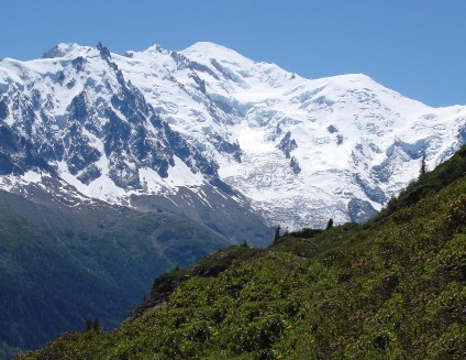 Mont Blanc is the highest peak in the Alps, and the highest in Europe outside Russia