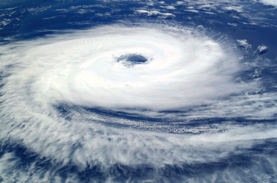 Cyclone Catarina, filmed from the International Space Station. Source: NASA