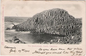 1901 postcard showing the Giant's Causeway