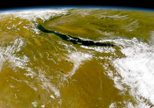 Lake Baikal seen from Space