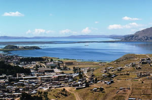 Lake Titicaca viewed from the Peruvian side