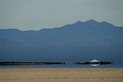 Mirage of Nonexistent Lake in Mojave Desert
