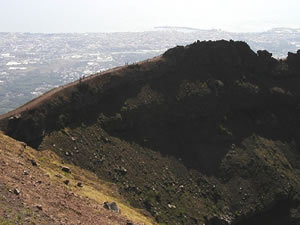 Crater Wall of Mount Vesuvius