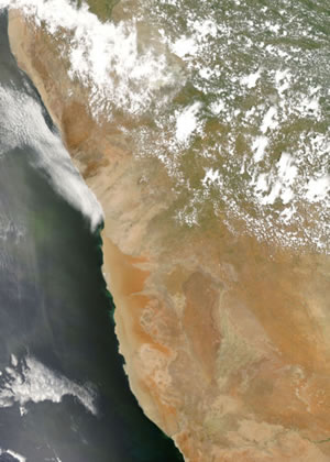 Satellite Image of the Namib Desert