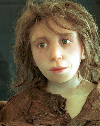 Reconstruction of Neanderthal Child