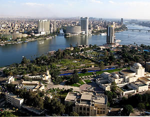 The Nile in Cairo, Egypt