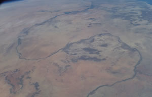 Photo from Space of Great Bend in Nile in Sudan