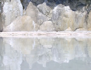 Reflection in the limestone at Pammukale