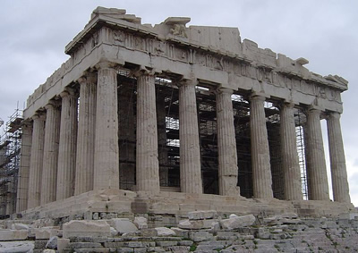The Parthenon on the Acropolis in Athens, Greece