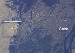Egyptian pyramids seen from space