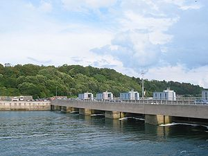 Rance tidal power plant in Brittany, France