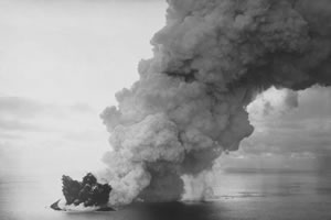 Surtsey during its 1963 eruption